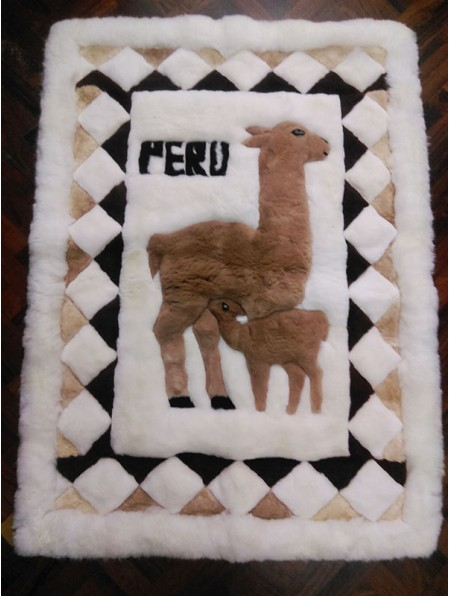 Alpaca Rug home decor - 100x140