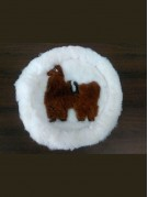 Real Fur Table Mat Rounded 40 cms