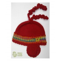 Peruvian Hats - Hat earflap, Sican design for winter outfits
