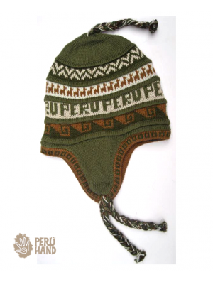 Chullo fashion with fleece no pom pom Peru design