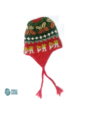 Hat with earflap no pompom