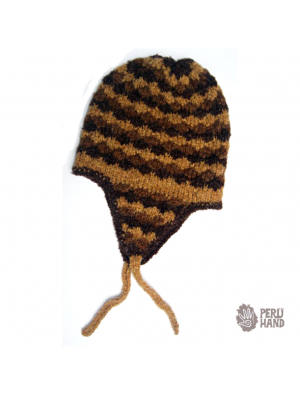 Hat with earflap no pompom small rhombus